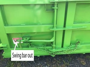 Swing bar out
