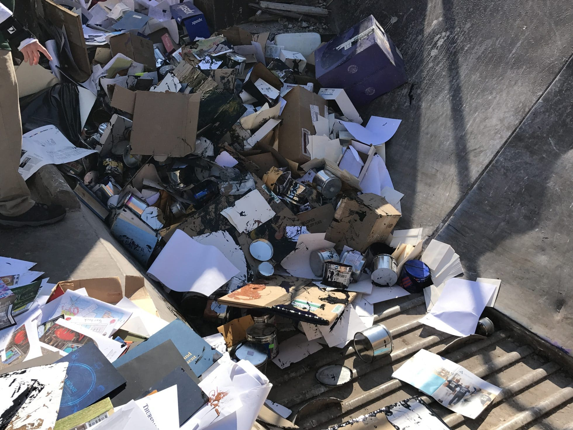 Warehouse Cleanout - Printing Company in Charlottesville