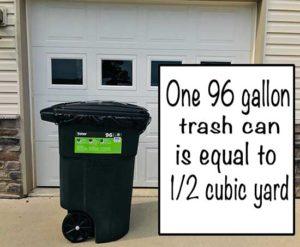 96 gallon trash can