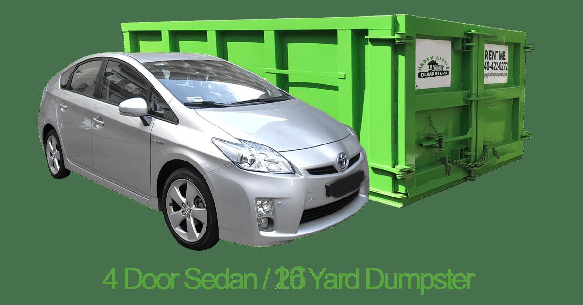16 yard dumpster car