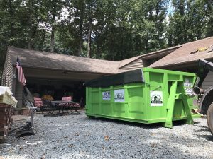 Roofing Dumpster in Charlottesville